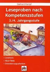 Leseproben nach Kompetenzstufen, 3./4. Jahrgangsstufe
