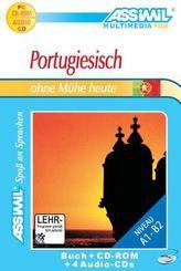Assimil Portugiesisch ohne Mühe heute, Lehrbuch, 4 Audio-CDs u. 1 CD-ROM