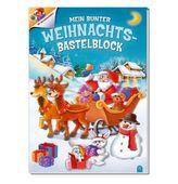 Mein bunter Weihnachts-Bastelblock, m. Adventskalender