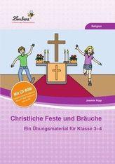 Christliche Feste und Bräuche im Jahreskreis, m. CD-ROM