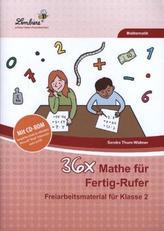 36x Mathe für Fertig-Rufer, m. CD-ROM
