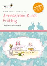 Jahreszeiten-Kunst: Frühling, m. CD-ROM