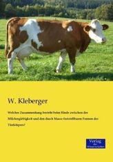 Welcher Zusammenhang besteht beim Rinde zwischen der Milchergiebigkeit und den durch Masse feststellbaren Formen des Tierkörpers