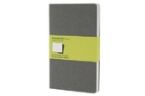 Moleskine Cahier A5, blanko, grau, 3er-Set
