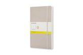 Moleskine Notizbuch, Large, A5, blanko, soft cover, beige