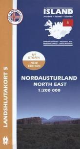 Island - Landshlutakort Nordausturland (Nordosten)