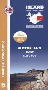 Island - Landshlutakort Austurland (Ost)
