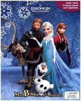 Die Eiskönigin, 1 Buch + 12 Figuren + 1 Spielmatte