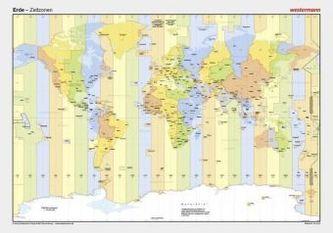 Posterkarten Geographie - Erde - Zeitzonen