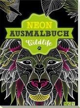 Neon-Ausmalbuch Wildife