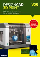 DesignCAD 3D-Print V25, CD-ROM