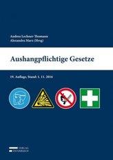 Aushangpflichtige Gesetze (f. Österreich)