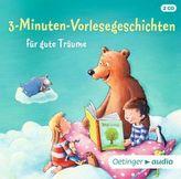 3-Minuten-Vorlesegeschichten für gute Träume, 2 Audio-CDs