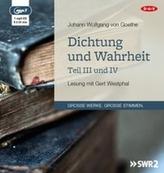 Dichtung und Wahrheit - Teil III und IV, 1 MP3-CD