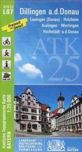Amtliche Topographische Karte Bayern Dillingen a.d.Donau