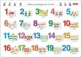 Fragenbär-Mini-Lernposter: Zahlen und Mengen von 1 bis 20