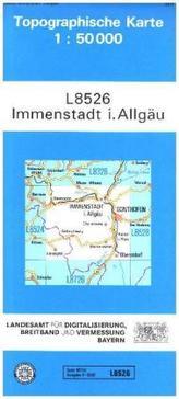 Topographische Karte Bayern Immenstadt i. Allgäu