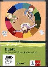 1./2. Schuljahr, 3 Audio-CDs und 1 Video-DVD zum Schülerbuch