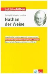 Lektürehilfen Gotthold Ephraim Lessing Nathan der Weise