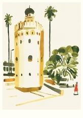 Karte Niemann, Torre del Oro, Seville (20 Ex)