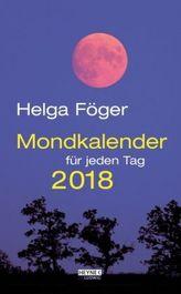 Mondkalender für jeden Tag 2018