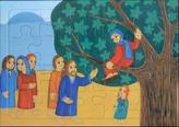 Jesus begegnet Zachäus (Rahmenpuzzle)