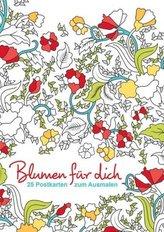 Postkarten zum Ausmalen: Blumen für dich