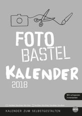 Foto-Bastelkalender, silber A4 2018