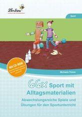 66x Sport mit Alltagsmaterialien, m. CD-ROM