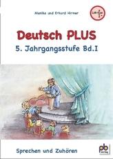 Deutsch PLUS, 5. Jahrgangsstufe. Bd.1
