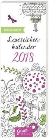 Lesezeichenkalender zum Ausmalen 2018