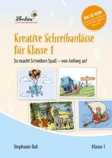 Kreative Schreibanlässe für Klasse 1, m. CD-ROM