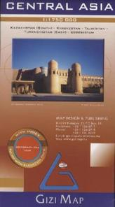 Gizi Map Algeria, Morocco, Tunisia, Geographical Map