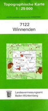 Topographische Karte Baden-Württemberg Winnenden