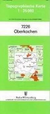 Topographische Karte Baden-Württemberg Oberkochen