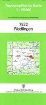 Topographische Karte Baden-Württemberg Riedlingen