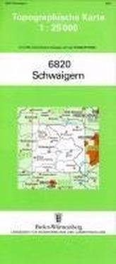 Topographische Karte Baden-Württemberg Schwaigern
