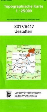Topographische Karte Baden-Württemberg Jestetten