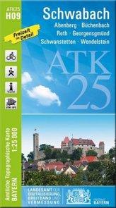 ATK25-H09 Schwabach (Amtliche Topographische Karte 1:25000)