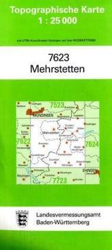 Topographische Karte Baden-Württemberg Mehrstetten