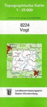 Topographische Karte Baden-Württemberg Vogt
