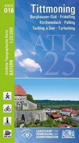 ATK25-O16 Tittmoning (Amtliche Topographische Karte 1:25000)