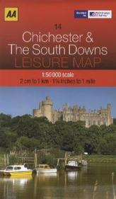 AA Leisure Map Chichester & The South Downs