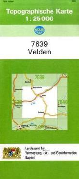 Topographische Karte Bayern Velden