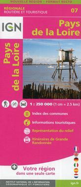 IGN Karte, Régionale Routière et Touristique Pays de la Loire