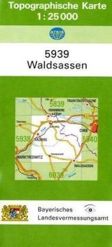 Topographische Karte Bayern Waldsassen