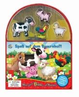 Spaß auf dem Bauernhof, Spielbuch + 4 Spielfiguren + ausklappbare Spielmatte