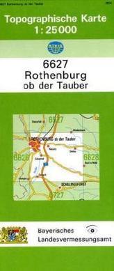 Topographische Karte Bayern Rothenburg ob der Tauber