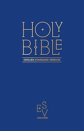 Holy Bible: English Standard Version (ESV) - Anglicised Pew Bible (Blue Colour)