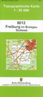 Topographische Karte Baden-Württemberg Freiburg im Breisgau, SW